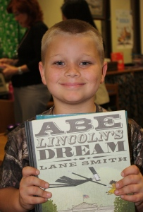 Boy with Lincoln book