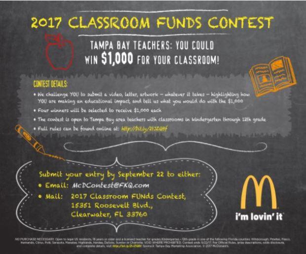 McD Classroom grant 2017